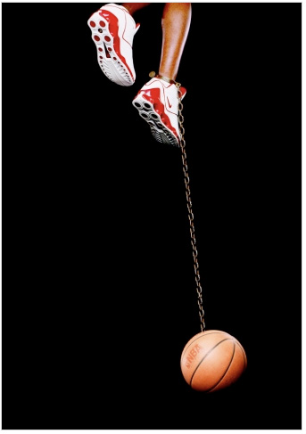 """Basketball and Chain"" - Hank Willis Thomas"